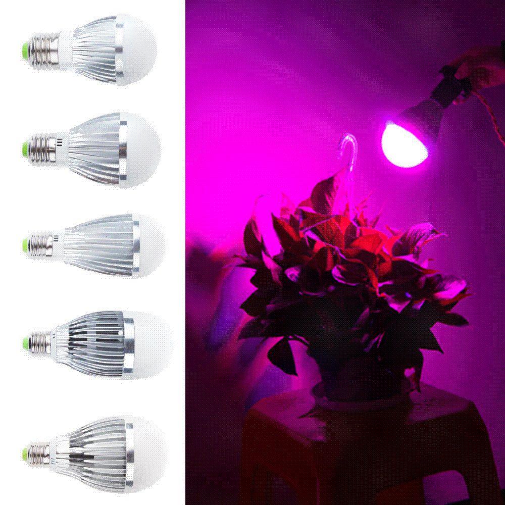 5 W Yüksek güç LED Bitki Büyümek Dolum Ampul E27 bankası Çiçekli Bitki Büyüyen Için otobüsler için led ışıkları
