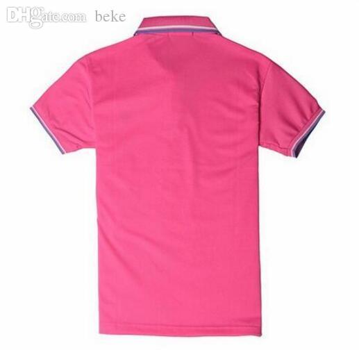 Camicie da uomo all'ingrosso-nuove per gli uomini di estate perriinglys delle donne degli uomini Casuali delle magliette di polo del cotone della manica a maniche corte