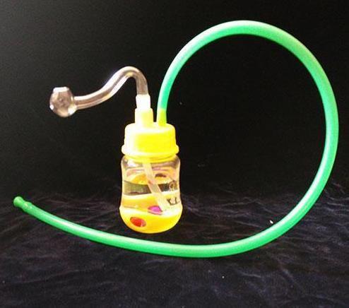 무료 배송 --- 아크릴 병 물 담뱃대 - 유리 훅 담배 파이프 유리 - - 석유 굴착 유리 봉 글라스 물 담뱃대 담배 파이프 - 증기 - 증기