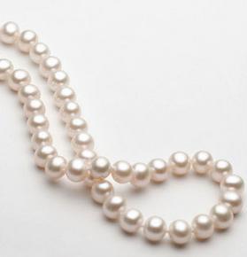Precioso collar de perlas blancas de 9-10 mm en el mar del sur, 18 pulgadas, cierre de plata 925 MS056