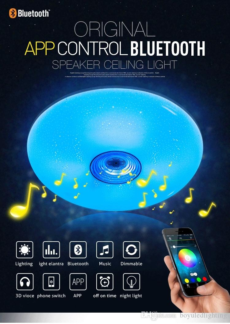2017 Intelligent Surface Mount Ceiling Light Bluetooth Speaker ...:intelligent surface mount ceiling light bluetooth speaker with light lamp  could use for Sleep Assistant Timing lights,Lighting