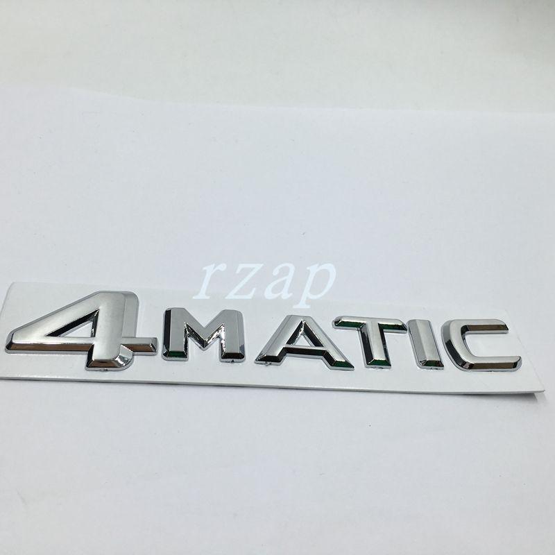 Para Mercedes 4Matic logotipo de la letra posterior del tronco del emblema de la etiqueta engomada para el Benz W124 W210 C E CL CLS R Car Styling insignia de la etiqueta