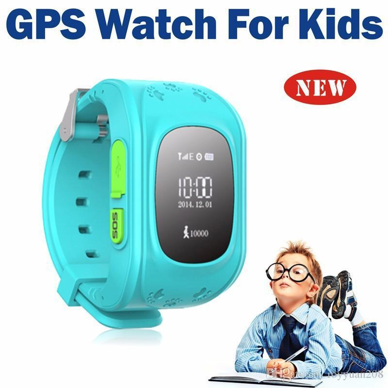 New Kid GPS Smart Watch Wristwatch SOS Call Location Finder Locator Device Tracker for Kid Safe Anti Lost Monitor Baby Gift Q50