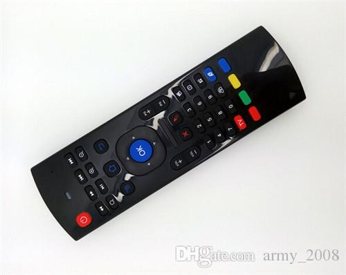 X8 미니 MX3 무선 키보드 플라이 에어 마우스 MX3 MXQ M8 M8S M95 S905 STB 안드로이드 100PCS 대한 원격 탐사 자이로 스코프 센서 MIC 콤보 MX3-M