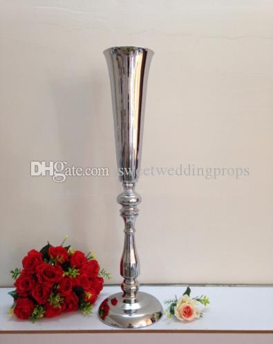 50 cm (H) Gümüş Düğün Çiçek Vazo Masa Centerpiece 10 adet / grup