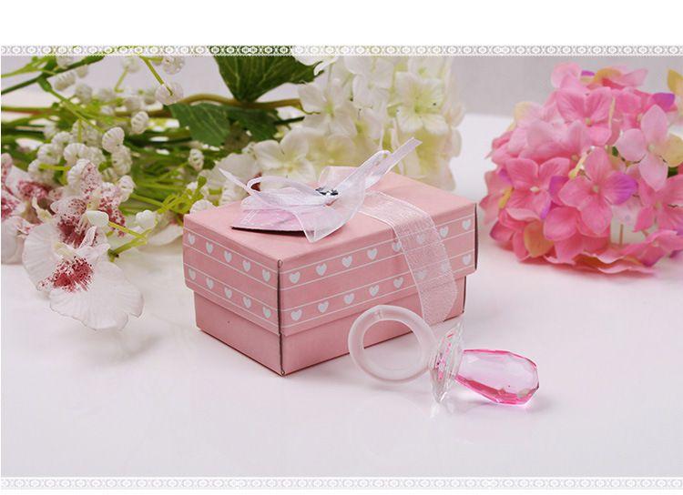Chuveiro novo partido presente Artificial cristal Chupeta Pingente encanto menina Baby Boy decoração favor Batizado Casamento