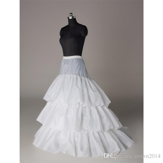البوق حورية البحر الزفاف الجلينول تنورة تنورة ثوب نسائي 3 هوب تنورات ل اكسسوارات الزفاف شحن مجاني أبيض Strettabe عينة حقيقية