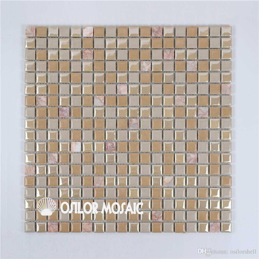 ceramic and marble mosaic tile for bathroom and kitchen decoration wall tile floor tile 4 square meters per lot