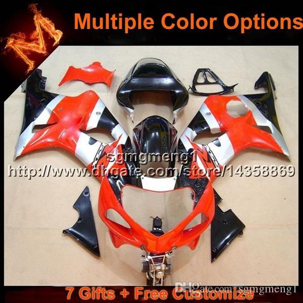 23colors + 8Gifts carenagem da motocicleta BRANCO vermelho para Suzuki GSX-R1000 00 01 02 GSXR1000 2000 2001 2002 artigo da motocicleta