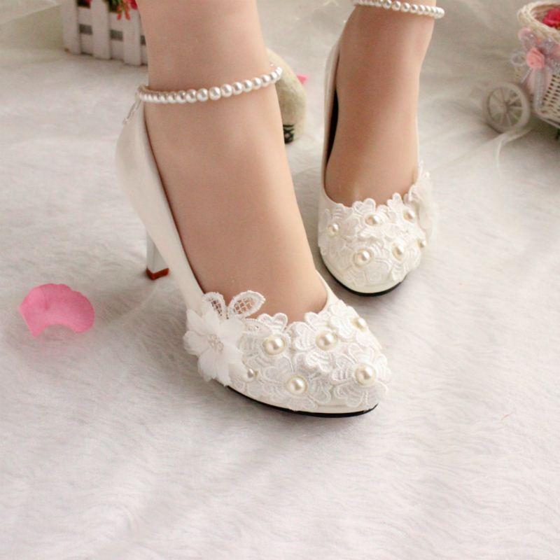 Белое шоу фотографии танцевальной обуви на низких каблуках красный свадебные невесты корейский Жемчужина Принцесса обувь весна