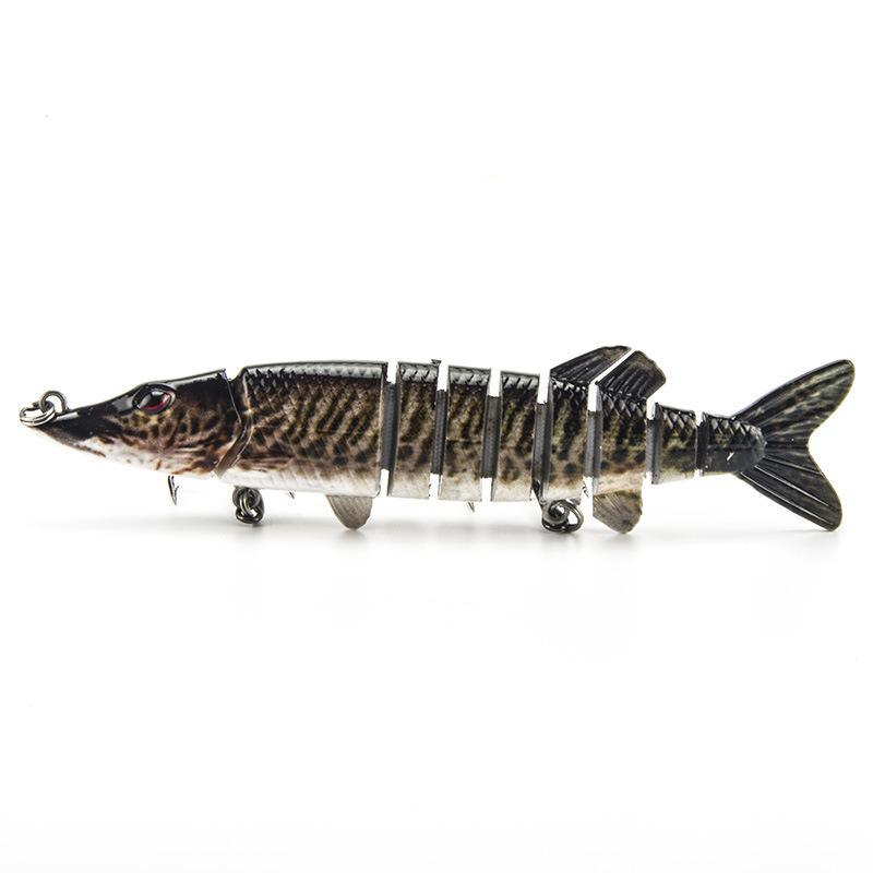 Горячие продажи большой рыбалки 8 сегментов приманки 12.7 см 19 г ABS пластик супер моделирование мульти сочлененные глубокий дайвинг жесткий воблеры
