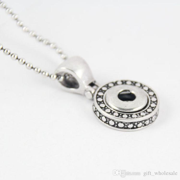 2020 Hot Europe America Style Interchangeable 12mm Snap Jewelry Metal Snap Button Pendant Necklace for women