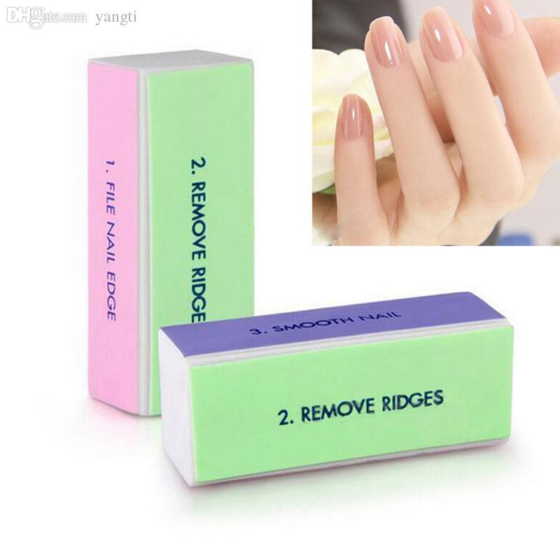 Großhandel-4 Seiten Nagel Datei Block Puffer Polieren Schleifen Nagelkunst Maniküre Nail art Tools 1 Stück
