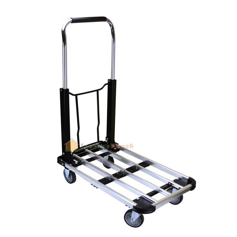 """Aluminum 28"""" Flat Moving Sturdy Extendible Hand Cart Truck Platform Extension"""