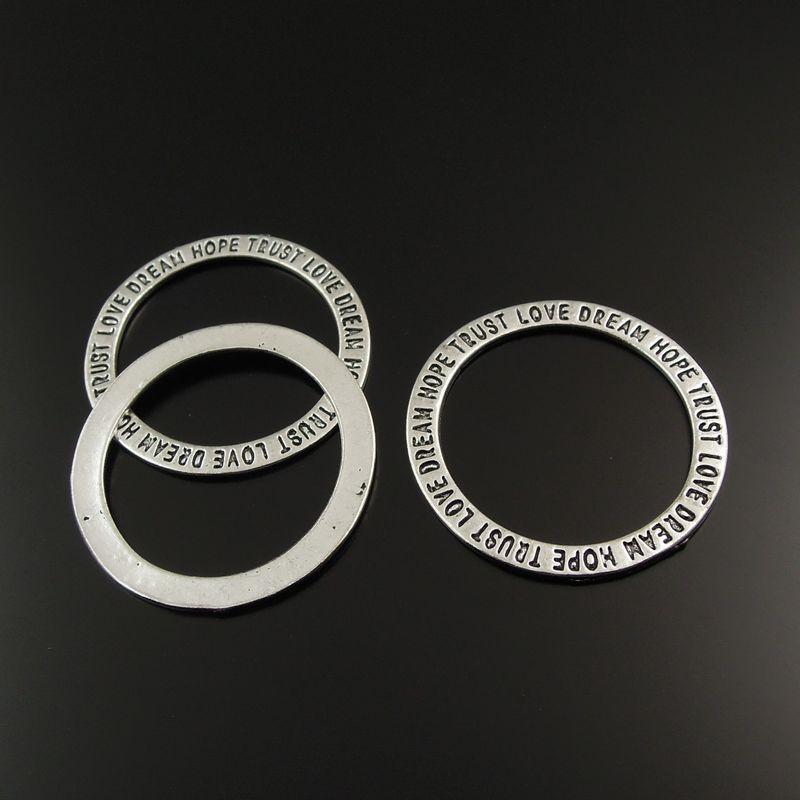 Антикварные серебряный сплав цинка круглые круги со словом любовь подвески подвески DIY ювелирных изделий решений AU01206 ювелирных изделий