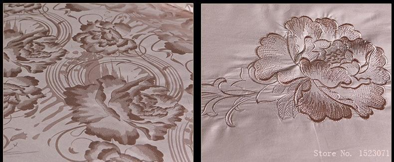 Jacquard Mulberry Silk Bedding Set Satin Bed Linen