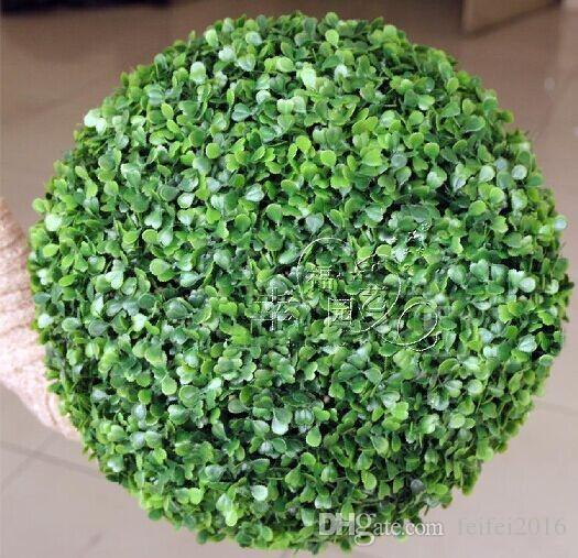 New Artificial Plastic Milan Grass Plant Kissing Ball Hanging Craft Ornament For Home Garden Wedding Centerpiece Decoration Supplies