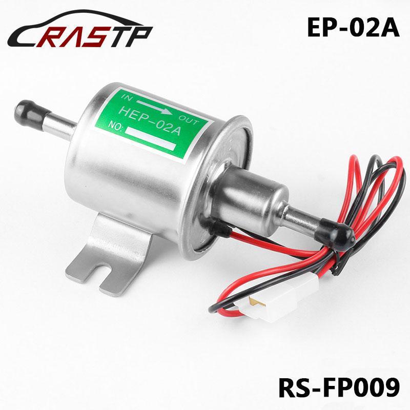 RASTP-Yüksek Kalite Evrensel Dizel Benzin Benzin Elektrikli Yakıt Pompası HEP-02A Alçak Basınç 12V Altın Gümüş RS-FP009