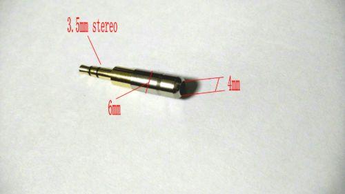 mini prise jack stéréo 3,5 mm en cuivre plaqué or pour le soudage audio