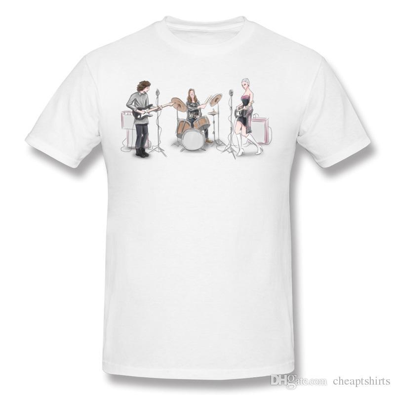 b435ff637 Music band tees shirt team men casual clothes personality printed male  summer tshirt fabric soft boys short shirt