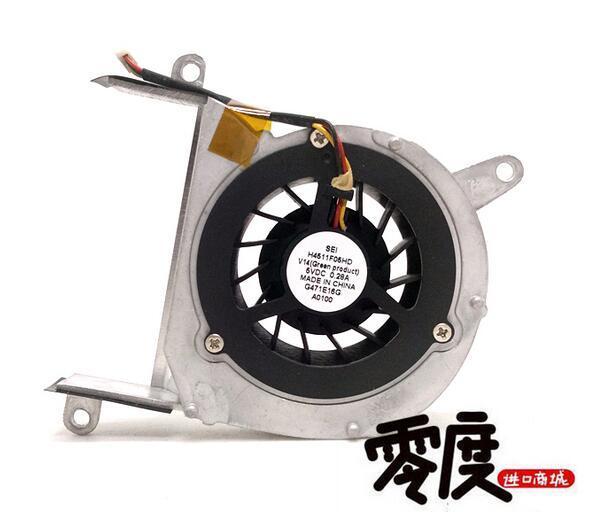 Original SEI H4511F05HD 5V 0.28A 3 fil ventilateur de portable avec cadre en aluminium