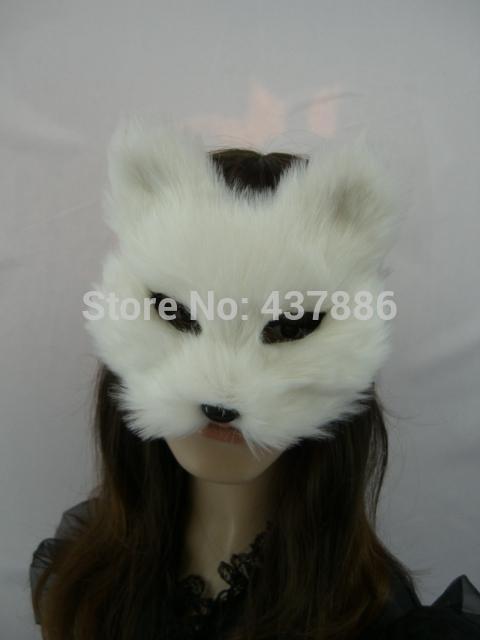 Maskerade maskiert realistische Tiergesichtsmaskenstützenspielzeughalloween-Parteipelz-Fuchsmaske für Frauen