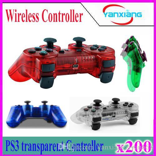 2018 neues Transparent Bluetooth Gamepad für P3-Controller drahtlos Bluetooth Joysticks für Wireless Game Controller 200pcs YX-PS-O5