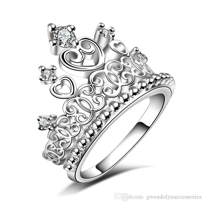 Корона принцесса темпераментное кольцо Европы и США, чтобы восстановить древние способы и элегантные украшения YDHR118