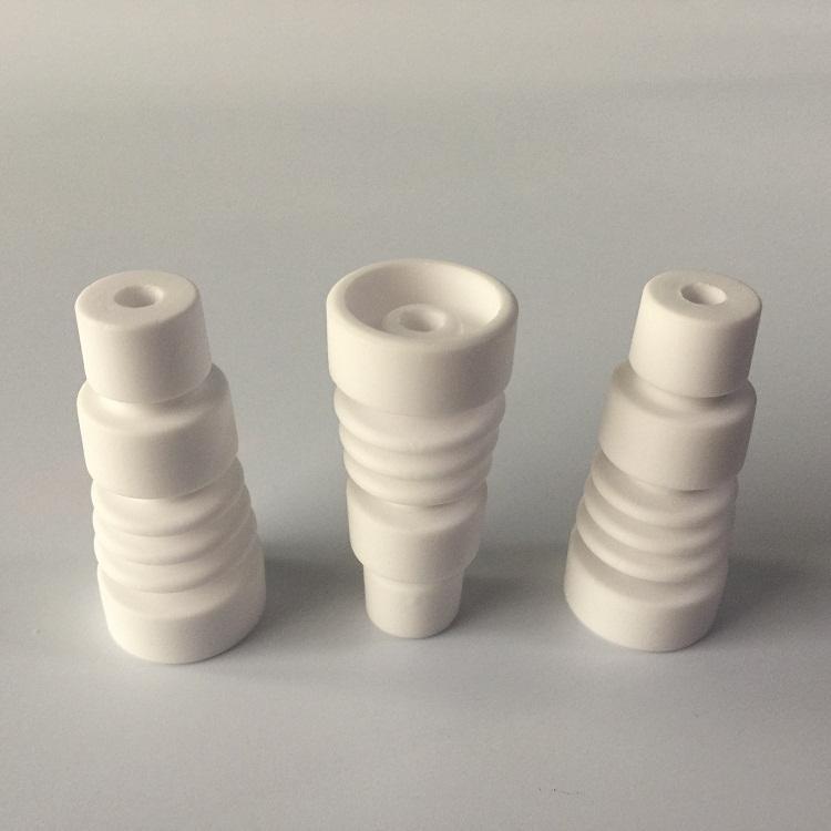 14 milímetros 19 milímetros domeless Nails cerâmica atacado com arquivo cerâmica unha vidro macho joint cap carb Ceramic VS GR2 titânio prego DHL livre
