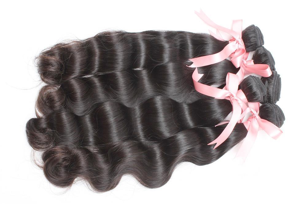 """Jungfrau Peruanisches menschliches Haar-Webart Körperwelle Haarverlängerungen 8 """"~ 30"""" Ungeschütztes Haar Natürliche Farbe Färbliche 10pcs / lot 1 Kilo Top Greatremy"""