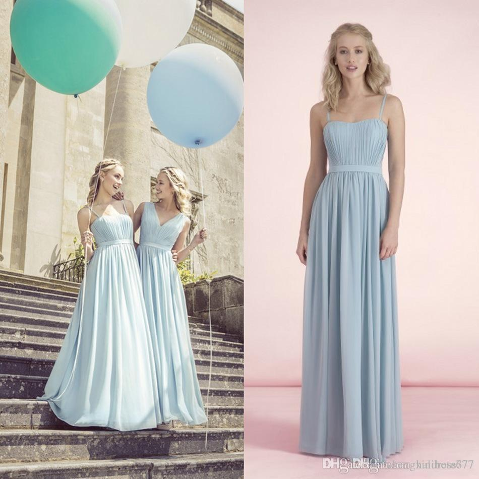Cheap two style bridesmaid dresses ruffle spaghetti neck two style bridesmaid dresses ruffle spaghetti neck bridesmaids wear fast shipping spring summer plus size cheap ombrellifo Images