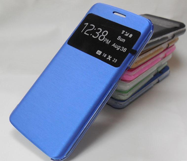 Für samsung galaxy s7 s7 edge sview view time fenster pu leder + pc case transparent rückseitige abdeckung für iphone 6s plus
