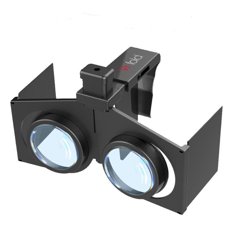 Portable Folding 3D VR Glasses Virtual Reality 3D Glasses Foldable Ultralight Thin Shutter Virtual Reality Glasses for Smartphone for iPhone