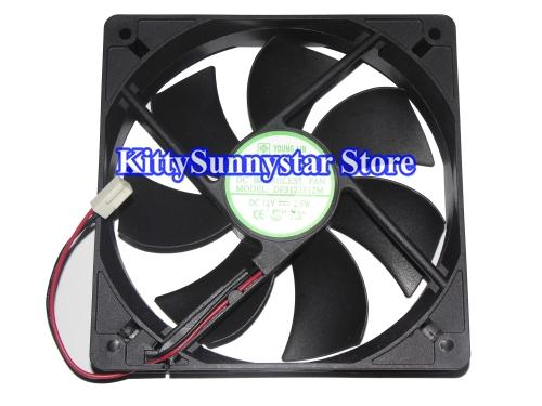 Young Lin 12CM 120*25mm DFS122512M 12V 2 Wires 2 pins case fan power cooler