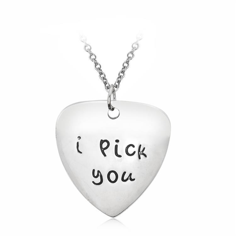 Liebe Herz Anhänger Halskette Valentinstag Geschenk Halskette Briefe gravieren Ich wähle Sie Charm Liebhaber Halskette
