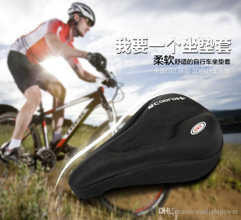 New 3D Silicone & Gel Pad Soft Thick Mountain Bike Bicycle Saddle Covers Mountain Cycling Cycle Seat Cushion