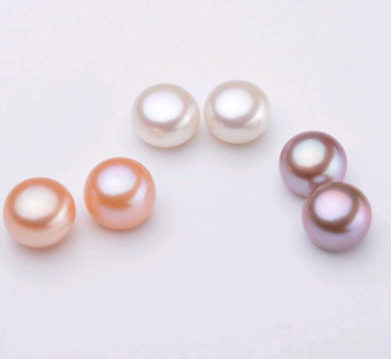 자연 민물 진주 구슬 쥬얼리 3-11mm 5 색 만들기 귀걸이 반지에 대 한 느슨한 구슬을 모듬 한쪽 구멍