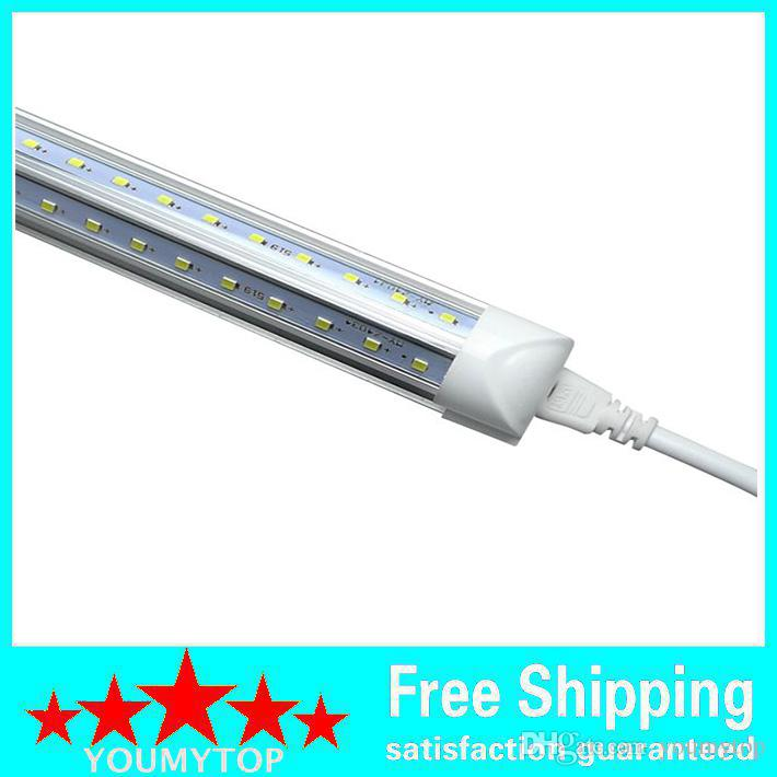 NEW Integrated Cooler Door T8 6feet 1800mm 48W SMD2835 3500lm 85-265V V-Shaped led tube light 6ft FREE SHIPPING