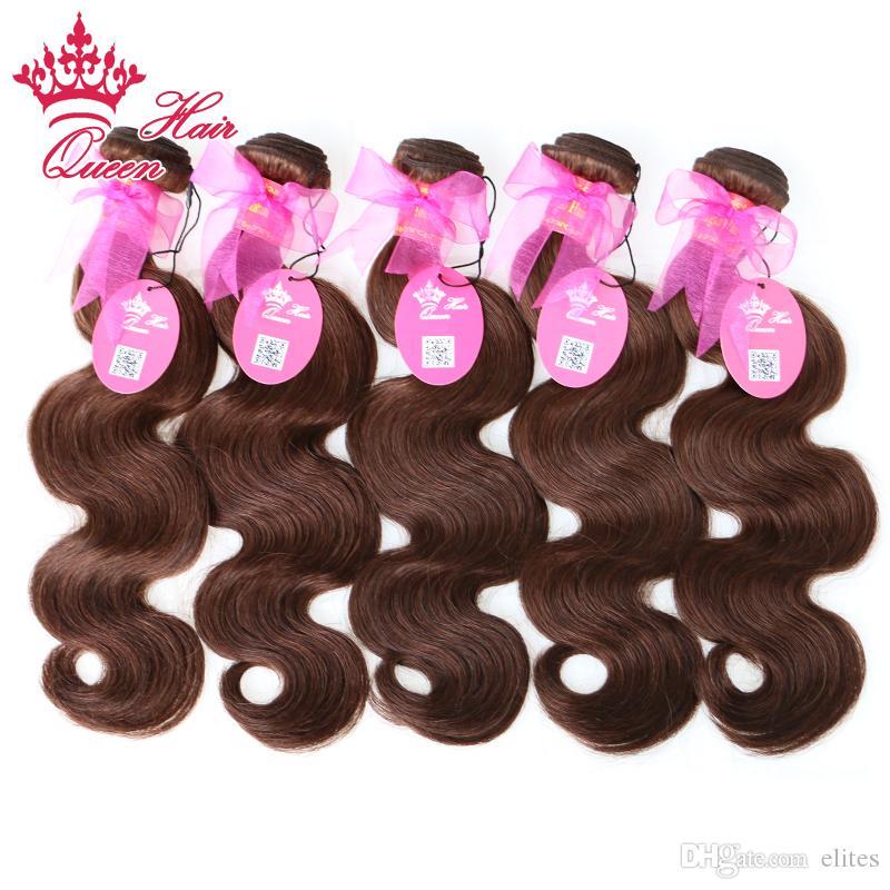 Prodotti per capelli regina 5 Bundles Lotto Brasiliano Virgin Virgin Body Wave 100% Capelli umani Tessuto Bundles Brasiliano Body Wave # 2 Colore