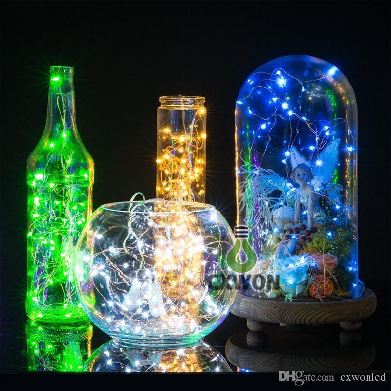 10M 33피트 (100)는 레드 블루, 따뜻한 화이트 / RGB 주도 12V 전원을 주도 구리 와이어 문자열 크리스마스 축제 웨딩 파티 장식 조명