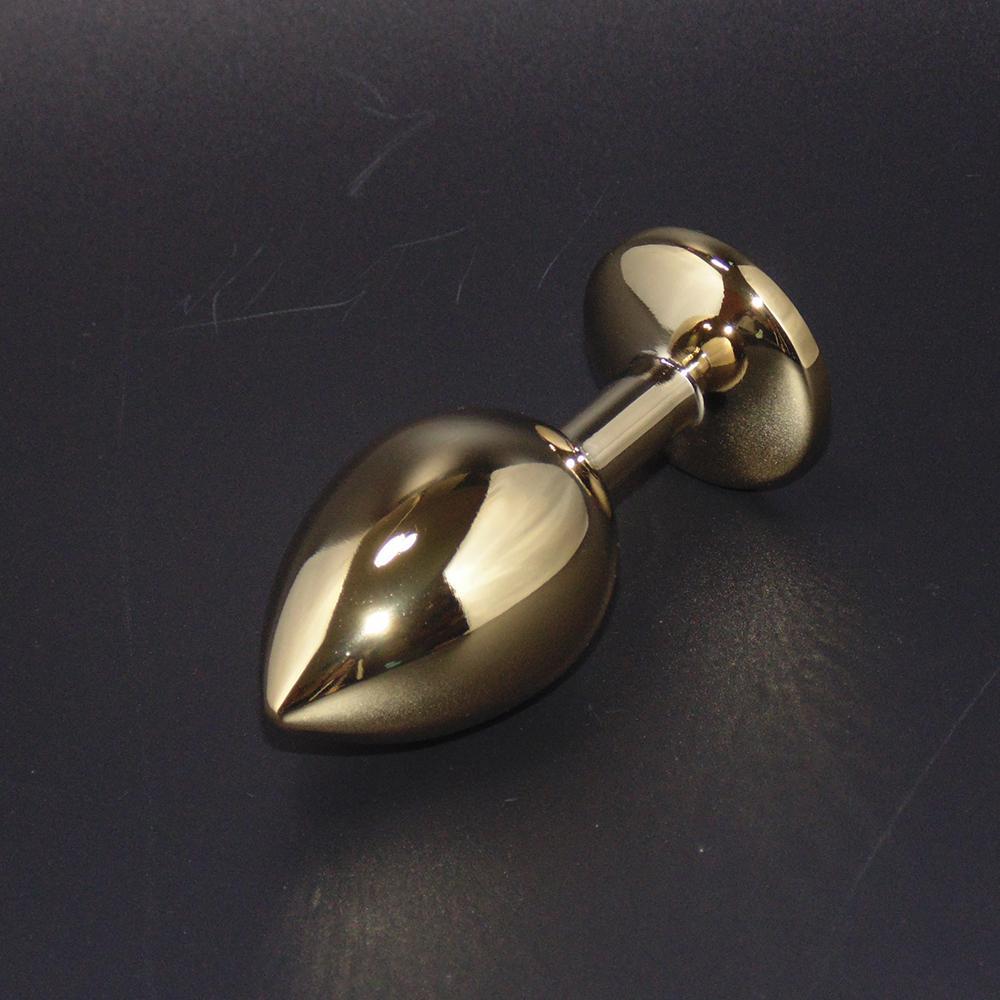 Erwachsene Produkte Goldene Farbe Metall Butt Plug, Edelstahl Anal Plug Sexspielzeug für Männer Frauen