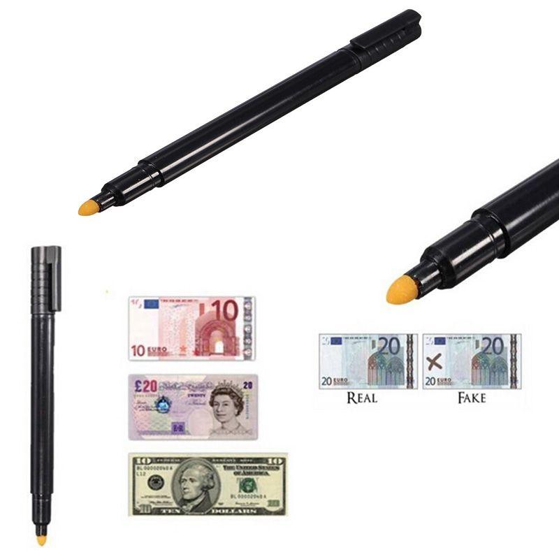 검은 돈 검사기 위조 감지기 마커 가짜 지폐 테스터 펜