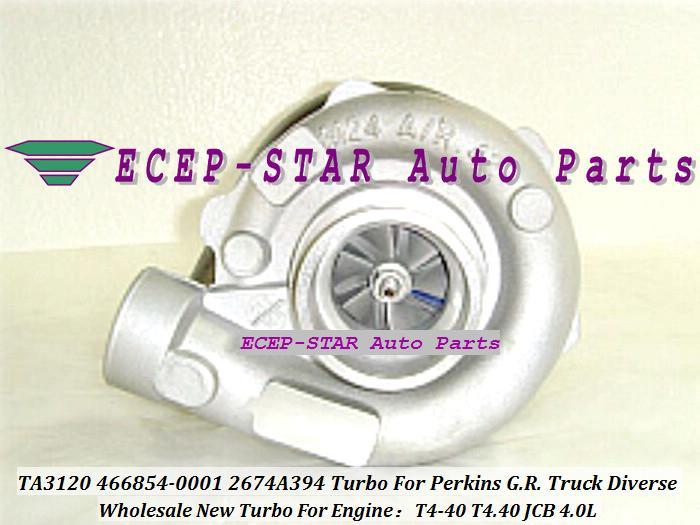 TA3120 466854-0001 466854-5001S 466854 2674A394 Turbo Turbolader Für Perkins G.R. LKW 1988-2001 Diverse T4-40 T4.40 JCB 4.0L