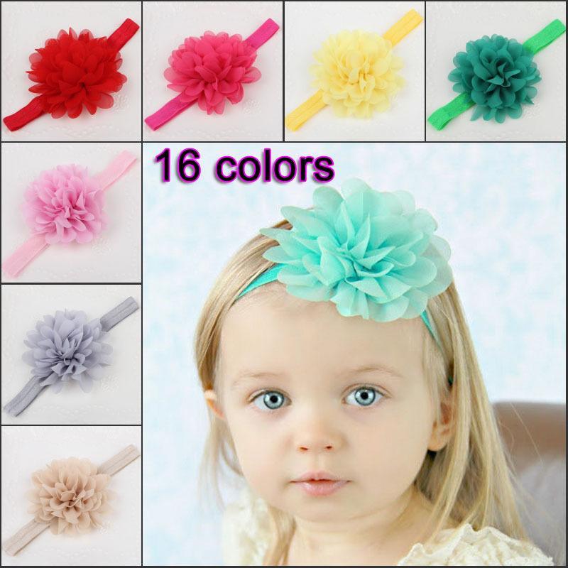 Bambini Bambina Accessori per capelli Accessori per capelli Band Big Tessuto Fiore Fasce per bambini Acessorios Para Cabelo Shabby Faixa de Cabelo Accessori