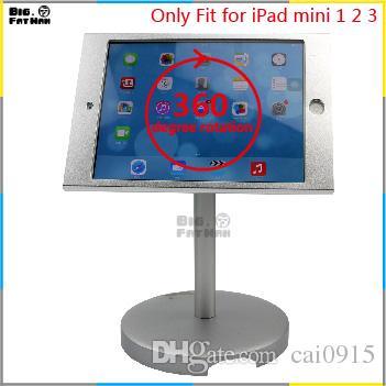 tablet stand display lock holder safe desktop iPad mini 1 2 Tablet Holder aluminum Mount holder stand for desk
