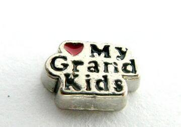 Atacado 20 pçs / lote amo meus grandkids diy liga flutuante medalhão encantos fit para vidro magnético vivendo memória medalhão pingente