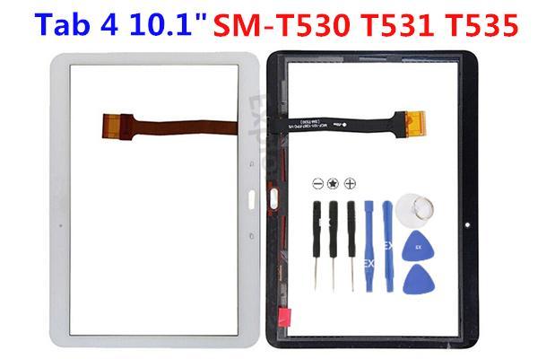 """Original neue Touchscreen Digitizer Front äußere Glasscheibe mit Vorinstallation Klebstoff für Samsung Galaxy Tab 4 10,1 """"SM-T530 T531 T535"""