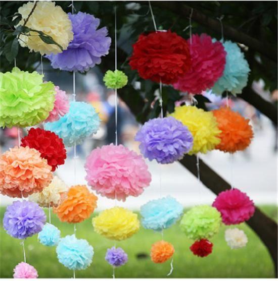 Свадебные украшения партии цветочные шары свадебные украшения цвет красный пион Красный бумага цветы мяч Брак номер украшения 10 дюймов 25 см