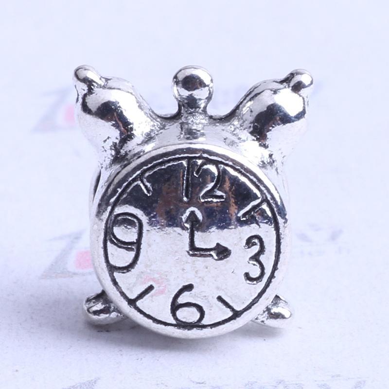YDLSP horloge design Pandora lâche perle charme argent / bronze en alliage de zinc pour pendentif bricolage fabrication de bijoux accessoires 250pcs 2463