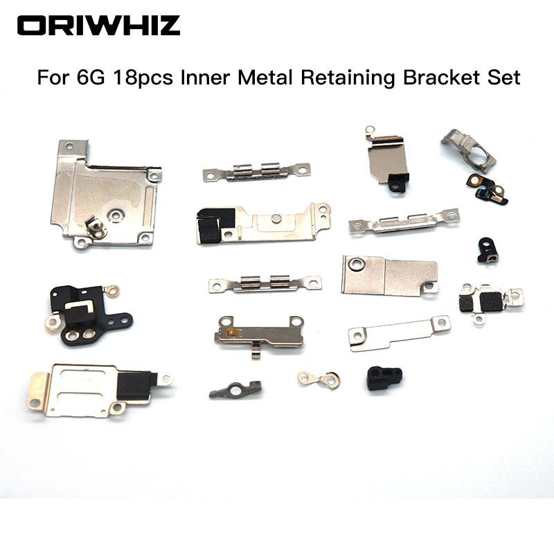 For iPhone 6 6 plus 6s 6s plus 7 7plus Inner Accessories Inside Small Metal Parts Holder Fastening Bracket Shield Plate Set Kit